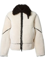 Burberry Brit Shearling Bomber Jacket