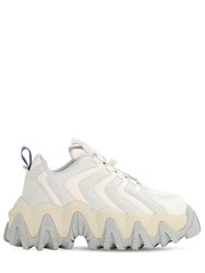 Eytys Halo Suede Platform Sneakers Off White