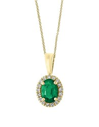 Effy Brasilica Emerald And Diamond Pendant Necklace Green