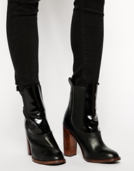 Whistles Block Heeled Ankle Boots Black