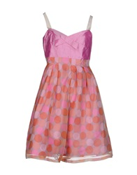 Fabrizio Lenzi Knee Length Dresses Pink