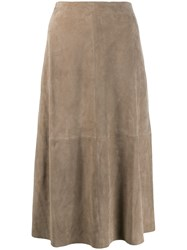 Theory Panelled Skirt Neutrals