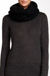 Bickley Mitchell Wool Blend Faux Fur Lined Snood Black