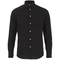 Knutsford X Tripl Stitched Men's Long Sleeve Woven Pique Shirt Black