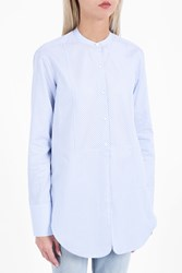 Helmut Lang Women S Oxford Tuxedo Shirt Boutique1 Blue