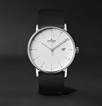 Junghans Form A 40Mm Automatic Stainless Steel And Leather Watch Ref. No. 027 4730.00 White