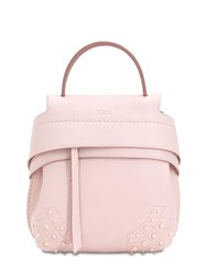 Tod's Mini Wave Gommino Leather Backpack Pink