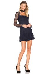Nicholas Web Lace Square Neck Dress Navy