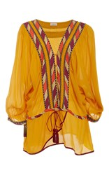 Talitha Tie Waist Blouse Yellow
