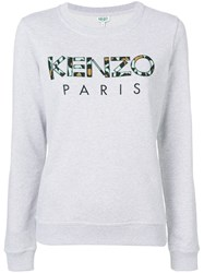 Kenzo Embroidered Logo Sweatshirt Grey