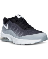 Nike Men's Air Max Invigor Print Running Sneakers From Finish Line Black White Wolf Grey