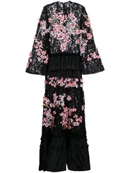 Romance Was Born Cherry Blossom Beaded Gown Black