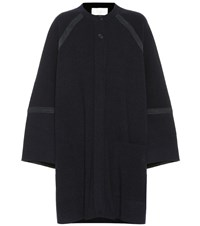 Chloe Oversized Wool And Cashmere Coat Blue
