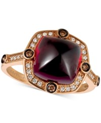 Le Vian Chocolatier Rhodolite Garnet 5 3 8 Ct. T.W. And Diamond 1 5 Ct. T.W. Ring In 14K Rose Gold