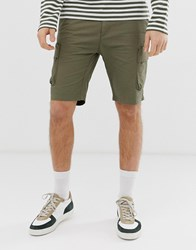 Pier One Cargo Shorts In Khaki Green