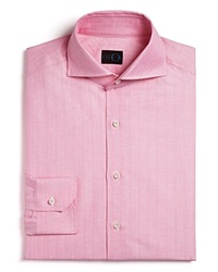 Eidos Marcus Variegated And Beaded Stripe Button Down Shirt Regular Fit