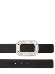 Roger Vivier 30Mm Swarovski Buckle Silk Satin Belt