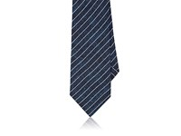 Barneys New York Men's Pinstriped Silk Necktie Navy
