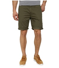 Scotch And Soda Pima Cotton Chino Shorts Army Green Men's Shorts