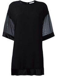 Dkny Sheer Sleeved Top Black