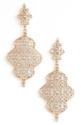 Kendra Scott Women's Renee Drop Earrings White Cz Rose Gold