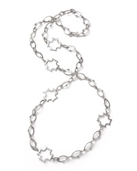 Elizabeth Showers Long Maltese Station Chain Necklace
