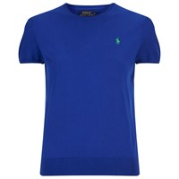 Polo Ralph Lauren Women's Short Sleeve Sweatshirt Cruise Royal Blue