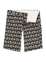 Paul Smith Regular Fit All Over Palm Print Short Black