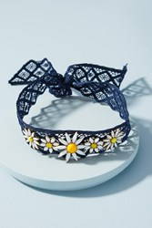 Anthropologie Daisy Lace Choker Necklace Navy