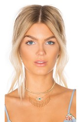 8 Other Reasons Clairvoyance Choker Metallic Gold