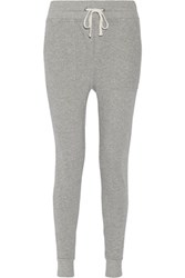 James Perse Cotton French Terry Track Pants Light Gray