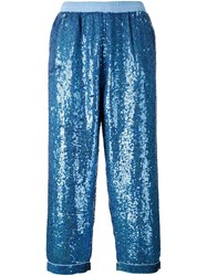 Ashish Sequin Embellished Pants Blue
