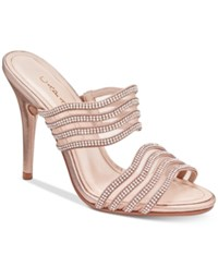 Caparros Luzy Embellished Evening Sandals Women's Shoes Rose Metallic