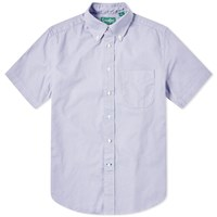 Gitman Brothers Vintage Short Sleeve Spring Oxford Shirt Purple