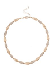 Mikey Oval Crystal Bead Oval Matt Beadnecklace Rose Gold