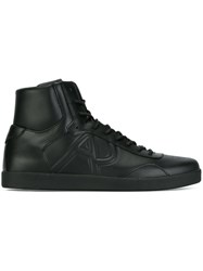 Armani Jeans Lace Up Hi Tops Black