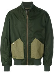 Mr And Mrs Italy Back Compartment Bomber Jacket Green