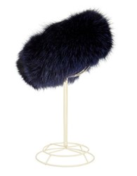 Surell Fox Fur Headband Blackberry