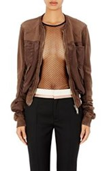 Haider Ackermann French Terry Bomber Jacket Brown