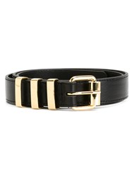 Kenzo Square Buckle Belt Black