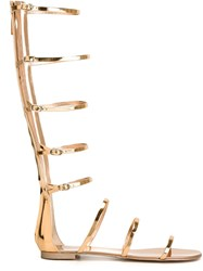Giuseppe Zanotti Design Gladiator Strappy Sandals Metallic
