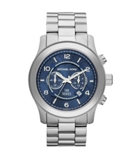 Michael Kors Watch Hunger Stop Oversized Runway Silver Watch