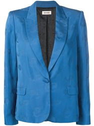 Zadig And Voltaire Victor Paisley Blazer Blue