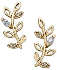 Giani Bernini Crystal Vine Ear Climber Earrings In 18K Gold Plated Sterling Silver Only At Macy's Yellow Gold