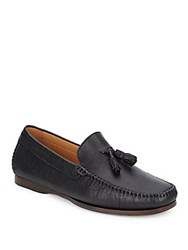 Saks Fifth Avenue Made In Italy Slip On Leather Loafers Black