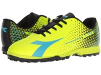 Diadora 7 Tri Tf Fluo Yellow Fluo Blue Black Soccer Shoes