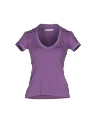 Baci And Abbracci Topwear Polo Shirts Women Purple