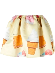 Au Jour Le Jour Ice Cream Print Voluminous Skirt