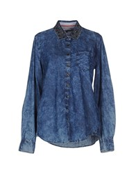 Tommy Hilfiger Denim Denim Denim Shirts Women Blue