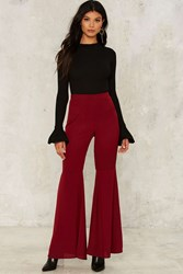 Jilly Flare Pants Red